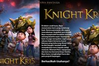 Sinopsis dan Trailer Film Animasi Knight Kris 2017 Deddy Corbuzier