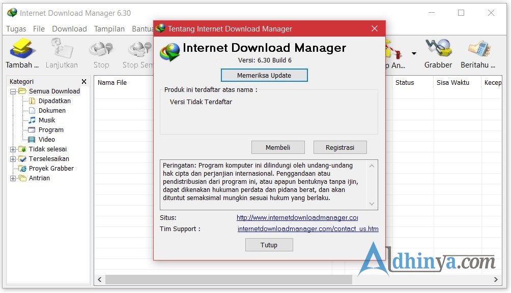Download (IDM) Internet Download Manager v6.30 Build 6 Update Terbaru Full Crack