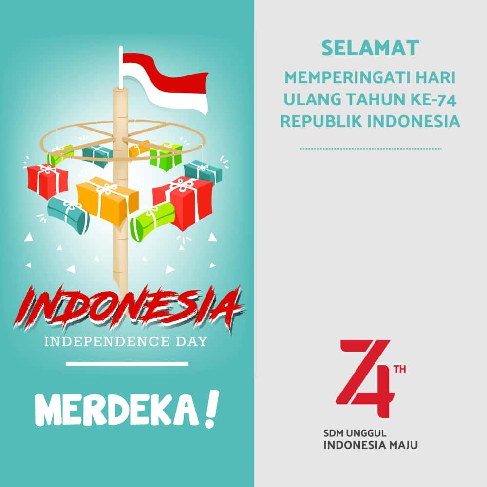 Kumpulan Gambar Ucapan Hari Kemerdekaan Indonesia ke 74 (17 Agustus 2019)